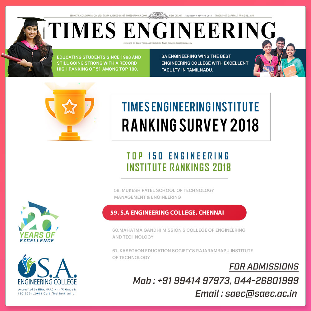 TIMES OF INDIA RANKINGS 2018